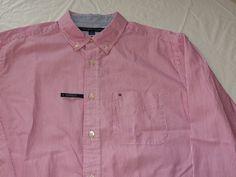 Tommy Hilfiger dress shirt 7871214 Very Berry 694 M classic Men's long sleeve #TommyHilfiger #ButtonFront