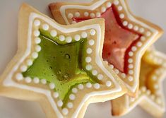 Stained Glass Cookies  Ingredients   1/2 cup (1 stick) butter   1/2 cup sugar   1/4 cup brown sugar   1 tablespoon molasses   1/2 teaspoon vanilla extract   1 egg   2 cups flour   1/4 teaspoon kosher or sea salt   3/4 teaspoon baking powder   20 hard candies (such as Jolly Ranchers or LifeSavers), preferably in several flavors