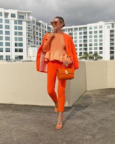 Orange Suit, Orange Pants, Orange Style, Winter Trends, White Sequin Dress, J Crew Shoes, Cool Outfits, Casual Outfits, Blair Eadie