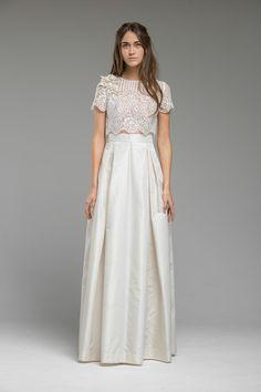 Cropped Top Wedding Dress 'Meadow' from Katya Katya Shehurina