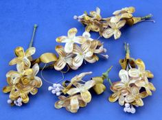 Light Brown Tiny Flowers Clusters Doll and by QueeniesCollectibles, $19.99