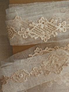 ❤︎   antique lace appliques