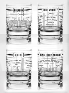 Learn while you drink. [Pop Chart Lab --> Design + Data = Delight --> Whiskey Glasses Set]