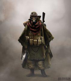 Wasteland Soldier, Jens Fiedler on ArtStation at https://www.artstation.com/artwork/wasteland-soldier