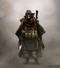Wasteland Soldier, Jens Fiedler on ArtStation at https://www.artstation.com/artwork/wasteland-soldier