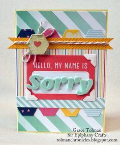 Sorry card *Epiphany Crafts* - Scrapbook.com
