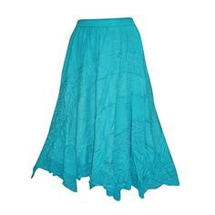Womens Peasant Skirt Blue Embroidered Rayon A-line Maxi Skirts S/M...:... ($38) ❤ liked on Polyvore featuring skirts, peasant skirt, long skirts, maxi skirt, long peasant skirts and ankle length skirts