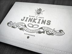Creative Letterpress, Wedding, Invitation, Curtis, and Jinkins image ideas & inspiration on Designspiration
