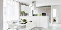 A la Carte -keittiöt ovimallit Cemento Neve. Asuntomessut 2015 kohde 38 Villa Aletta. #asuntomessut2015 Decor, Table, Furniture, Townhouse, House, Kitchen, Home Decor