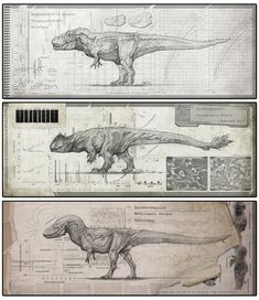 Tyrannosauroid Strains by Rodrigo-Vega