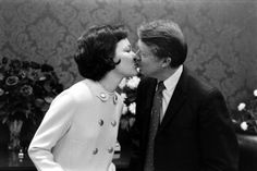 1970's  The governor of Georgia and future American president Jimmy Carter with his wife, Rosalynn.