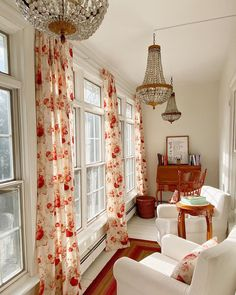 Likes, 333 Comments - Emily Connolly Crystal Chandeliers, Sunroom, Indoor, Houses, Curtains, Play, Antiques, Table, Fun