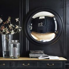 Give your interior a contemporary look with this VENDOME convex mirror. Hanging in your hallway or living room, this mirror is a simple and elegant way to add genuine character to your décor. Porthole Mirror, Convex Mirror, Metal Mirror, Mirror Hanging, Sunburst Mirror, Mirror Mirror, Unique Mirrors, Beautiful Mirrors, Sun Lounger Cushions