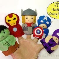 Avengers Felt Finger Puppets