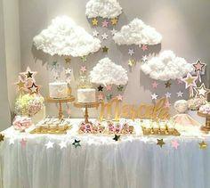 mesa dulce baby shower. Esta lloviendo amor