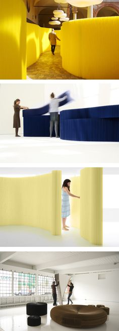 Sophisticated and yet simple panels. Now in yellow and blue also.