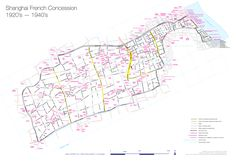 A clear map of the French Concession