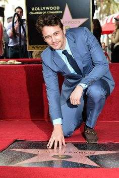 Pin for Later: A Friendly Reminder That James Franco Is a Stone-Cold Fox When He Got a Star on the Hollywood Walk of Fame and Also Put the Stars in Your Night Sky