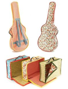 Posts about fabric guitar case on Craft My Stitch Up Ukulele Case, Violin Case, Sewing Hacks, Sewing Tutorials, Sewing Patterns, Fabric Crafts, Sewing Crafts, Sewing Projects, Diy Sac