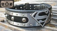 Love this.  Stainless Steel Superman Collar by OLICOLLARS on Etsy, $167.00