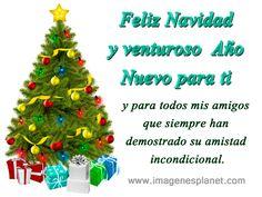 Feliz Navidad y venturoso  Año Nuevo para todos mis amigos