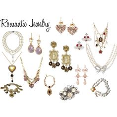 Romantic Jewelry by expressingyourtruth on Polyvore featuring Betsey Johnson, Dolce&Gabbana, Vivienne Westwood, Carolee, Miriam Haskell and Chanel