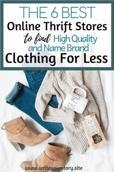 QUALITY Online Thrift Stores You Probably Haven't Heard Of Before thrift store finds / thrift store fashion / saving money tips / frugal finance Thrift Store Fashion, Thrift Store Shopping, Thrift Store Crafts, Thrift Store Finds, Shopping Tips, Online Fashion Stores, Best Online Thrift Stores, Best Shoe Stores, Handbag Stores