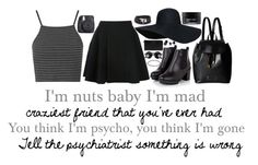 """""""i'm nuts baby i'm mag craziest friend you've ever had you think I'm psycho, you think i'm gone tell the psychiatrist something is wrong"""" by im-just-tipsy ❤ liked on Polyvore featuring Topshop, Avelon, Marc by Marc Jacobs, Koh Gen Do, Givenchy, Boohoo and Fuji"""
