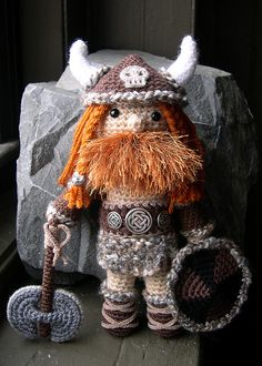 Crocheted Viking! Gotta study up, this is ace!