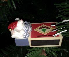 ★ Hallmark® Christmas mouse in matchbox. 1979 ★