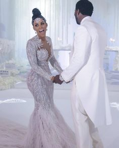 Rapper Gucci Mane married his Jamaican bride. Luxury Wedding Dress, Gorgeous Wedding Dress, Wedding Gowns, Backless Wedding, Wedding Rings, Pageant Dresses, Sexy Dresses, Bridal Dresses, Prom Gowns
