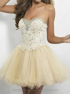 Sweetheart A-line Tulle Short/Mini Lace Sweet Sixteen Dresses -$107.69