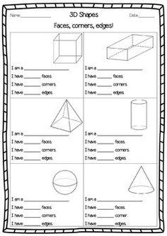 3 d shapes facts worksheet. Black Bedroom Furniture Sets. Home Design Ideas