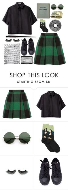 """""""Aesthetic Slytherin outfit"""" by blackcherrypie1 ❤ liked on Polyvore featuring Sea, New York, Nomia, HOT SOX and Converse"""