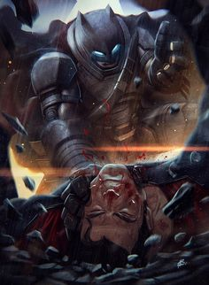 "dccomicsscenes: ""Batman v Superman by Roni Setiawan """