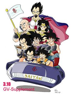 Pure blood saiyans in a car!! We're brolys dad? Radiz is giving directions, goku is driving