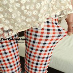 Korea purchasing spot a summer 2012 color Plaid seven leggings girl - US$ 28.19