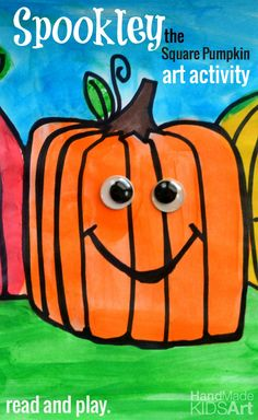 Spookley the Square Pumpkin. Read and Play! Create your own Spookley inspired drawing. Free printables included!