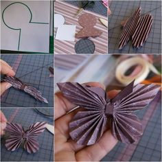 Origami - Paper butterflies - beautiful and so easy to make! Fun Crafts, Crafts For Kids, Arts And Crafts, Kids Diy, Origami Paper, Diy Paper, Recycle Paper, Oragami, Paper Crafting