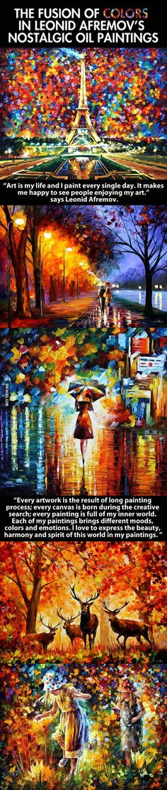 My favourite artist | The Fusion Of Colors In Leonid Afremov's Nostalgic Oil Paintings