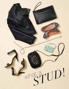 Even the girliest of girls can't resist a sprinkle of studs and skulls #style