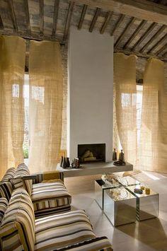Fireplace of Palazzo Bartolommei, Florence, Italy - design Ilaria Miani