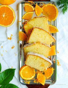 Orangenkuchen mit Zuckerguß - Rezept (frische Sommer Kuchen, Ostern, Orangen, Torten, Cake, Kreativ, Süß, Schnell, Einfach, Rezepte, Sommerlich, Leicht, Geburtstag, Deutsch, Kochhaus)