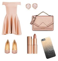 """""""First date #2"""" by caro150150 on Polyvore featuring moda, Boohoo, Christian Louboutin, Karl Lagerfeld, Monica Vinader y Charlotte Tilbury"""