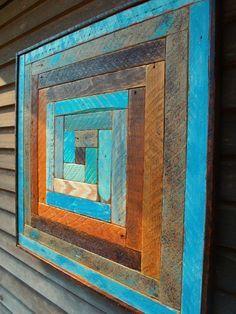 Rustic Wood Sculpture - Reclaimed Wood Lath Art - Wood Quilt Designs - Custom Designs - Wall Art - Wall Hanging - Home & Living