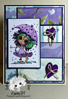 My Besties Heart Shower Handmade Card by PauseDreamEnjoy on Etsy