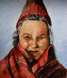 Sami Woman by on DeviantArt Folk Costume, Costumes, Kola Peninsula, Lappland, Samara, Ancestry, Norway, Paintings, Culture