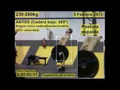 Biomecánica del Peso muerto - Altura de la cadera (Kinovea)