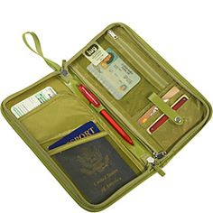 Wanderlust: Lug Life Travel Wallet ($29) - it zips all the way around, and I can carry all of my wallet essentials in it!  If only it would arrive in time before my mission trip!   I'd get hot pink. =) It's red light bc I don't travel internationally enough to purchase this item.