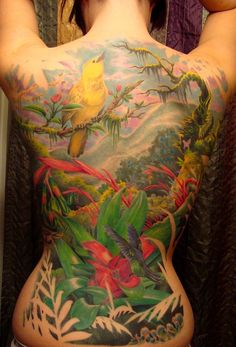Full rainforest backpiece - Complete by crecia, via Flickr